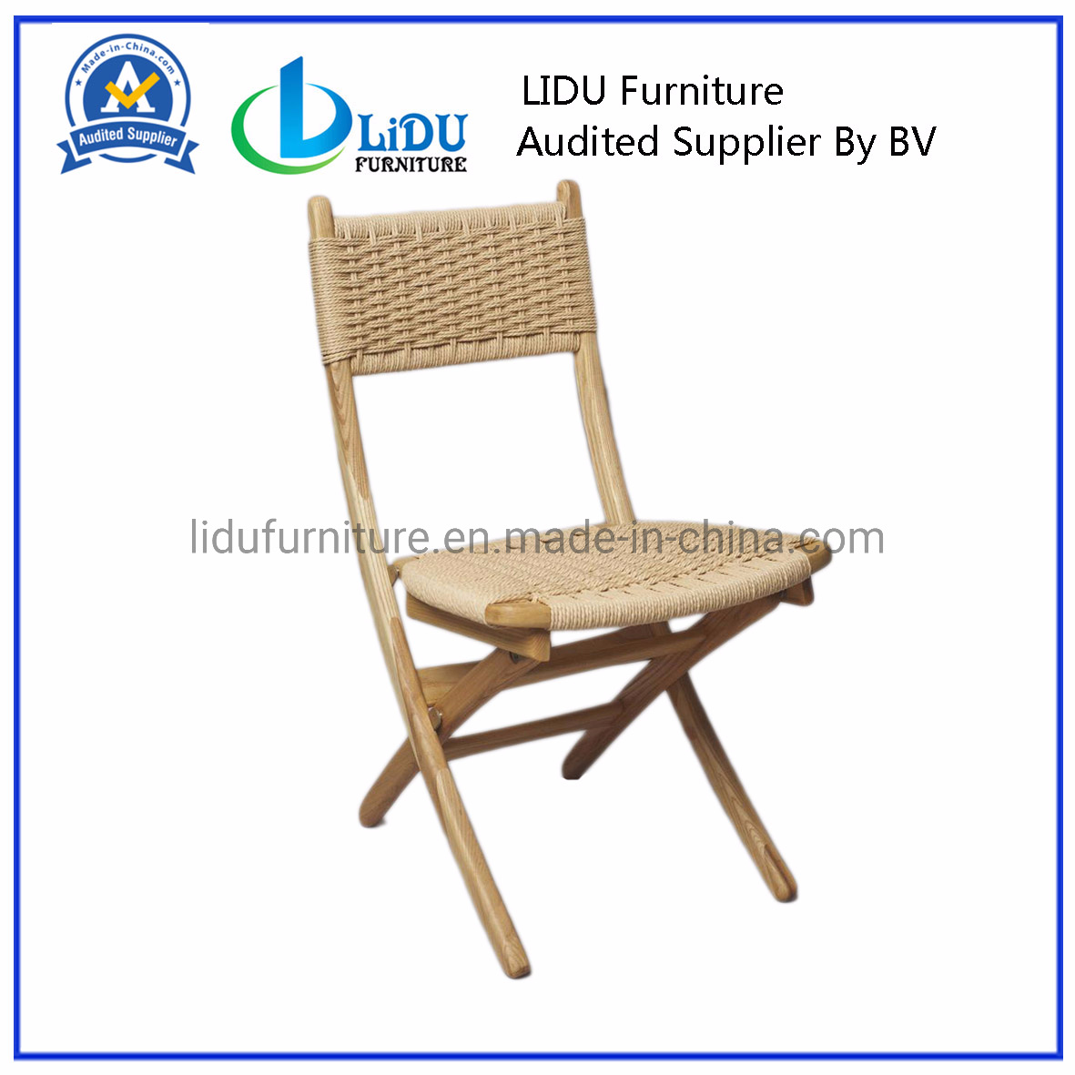 Superb China Classic Of Mid Century Folding Rope Chairs Solid Wood Ocoug Best Dining Table And Chair Ideas Images Ocougorg