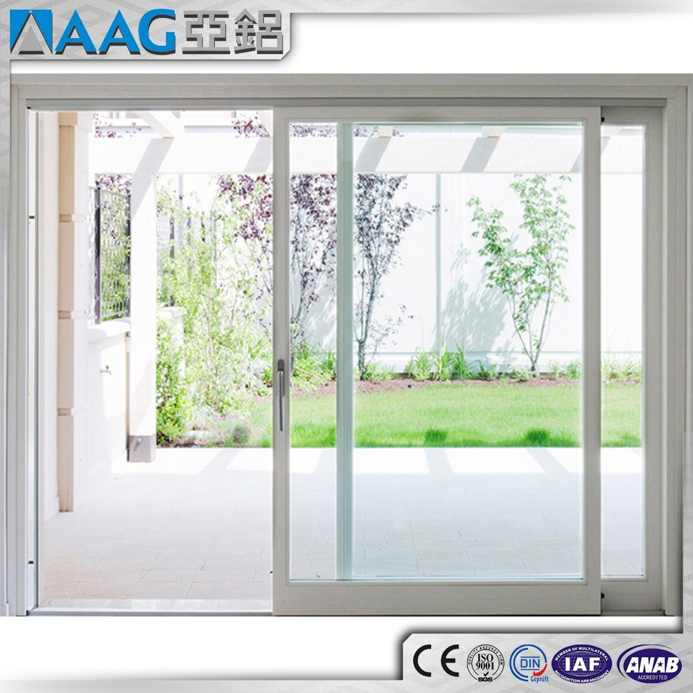China Aluminum Windows And Doors Double Glazing Curved Glass Sliding