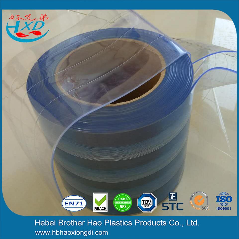 China Eco Friendly Light Blue Nylon Reinforced Vinyl Curtain Strip