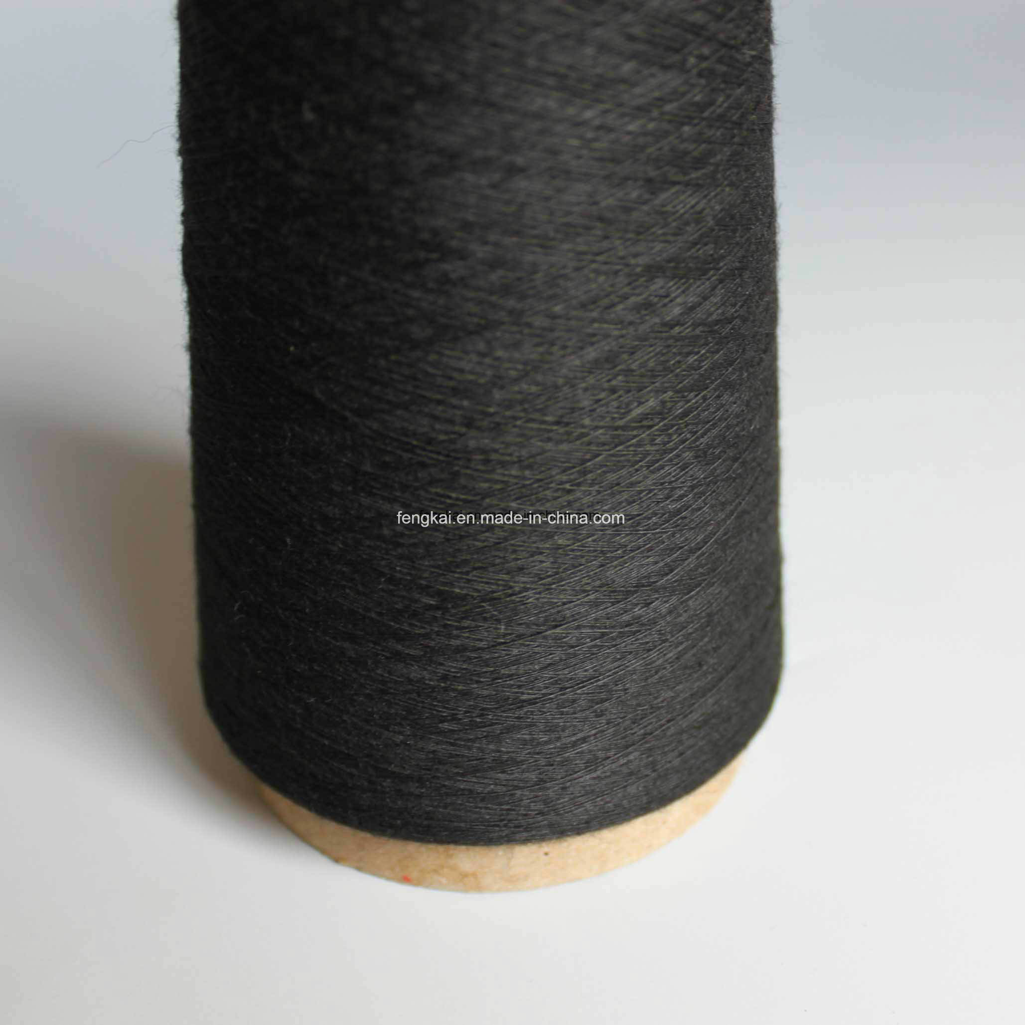 Dyed Color 100% Polyester Spun Yarn pictures & photos