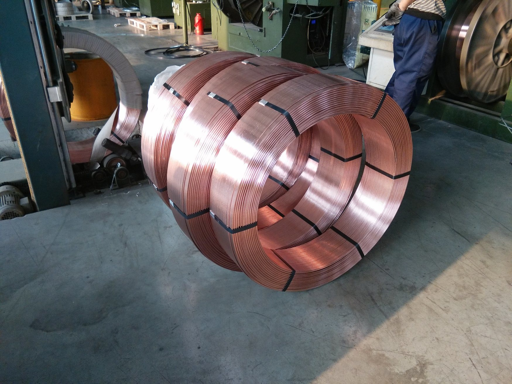 China Welding Rod Copper Coated Weldding Wire Submerged Arc Welding Wire China Cored Wire Flux Cored Wire