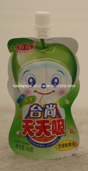 Customized Free Shape Stand up Food Spout Bag for Juice
