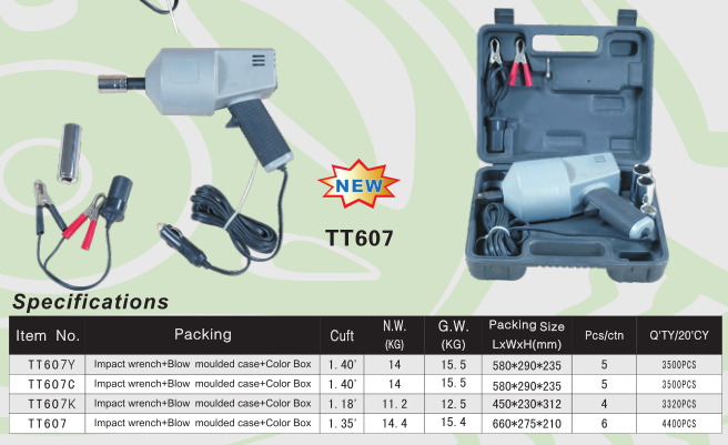 12V Impact Wrench with Digital Display & Torque Configuration