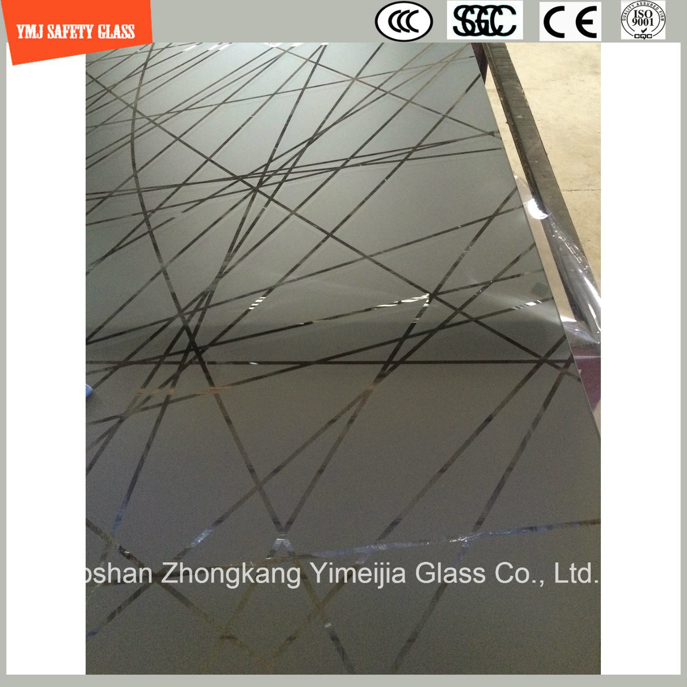 4-19mm Anti-Fingerprint Acid Ethced Tempered Glass Door