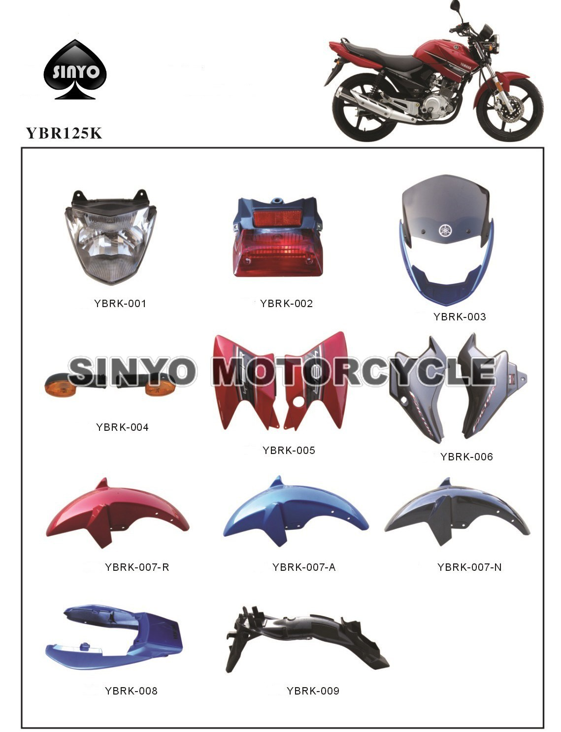 Wholesale Honda Motorcycle Parts Buy Reliable Repair Information Ybr125 Spare For