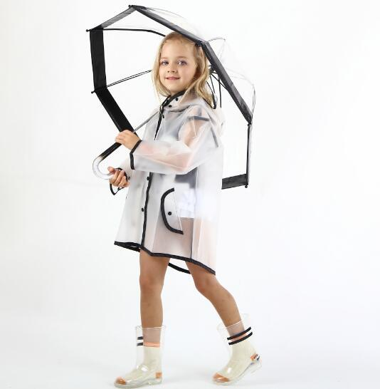 Unisex Clothing Waterproof EVA Children Raincoat Kids Poncho