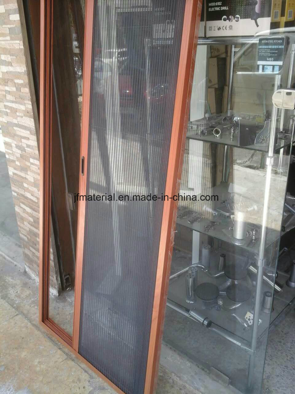 China Mosquito Net Insect Screen Folding Door Pleated Doors