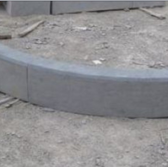 Construction Stone, Grey Granite, Grey Kerstone, Limestone Light Gray Celestine Thickplate Kerbstone for Export pictures & photos