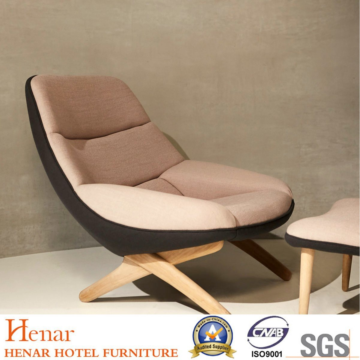China 2019 Exclusive Comfortable And Durable Oak Easy Chair With Pouffe China Easy Chair Bedroom Furniture