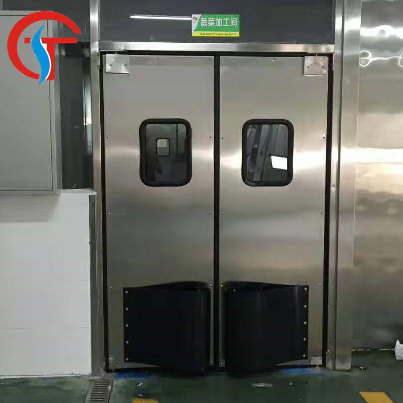 China Industrial Traffic Stainless Steel Swing Doors Kitchen China Industrial Swing Door Impact Traffic Free Door