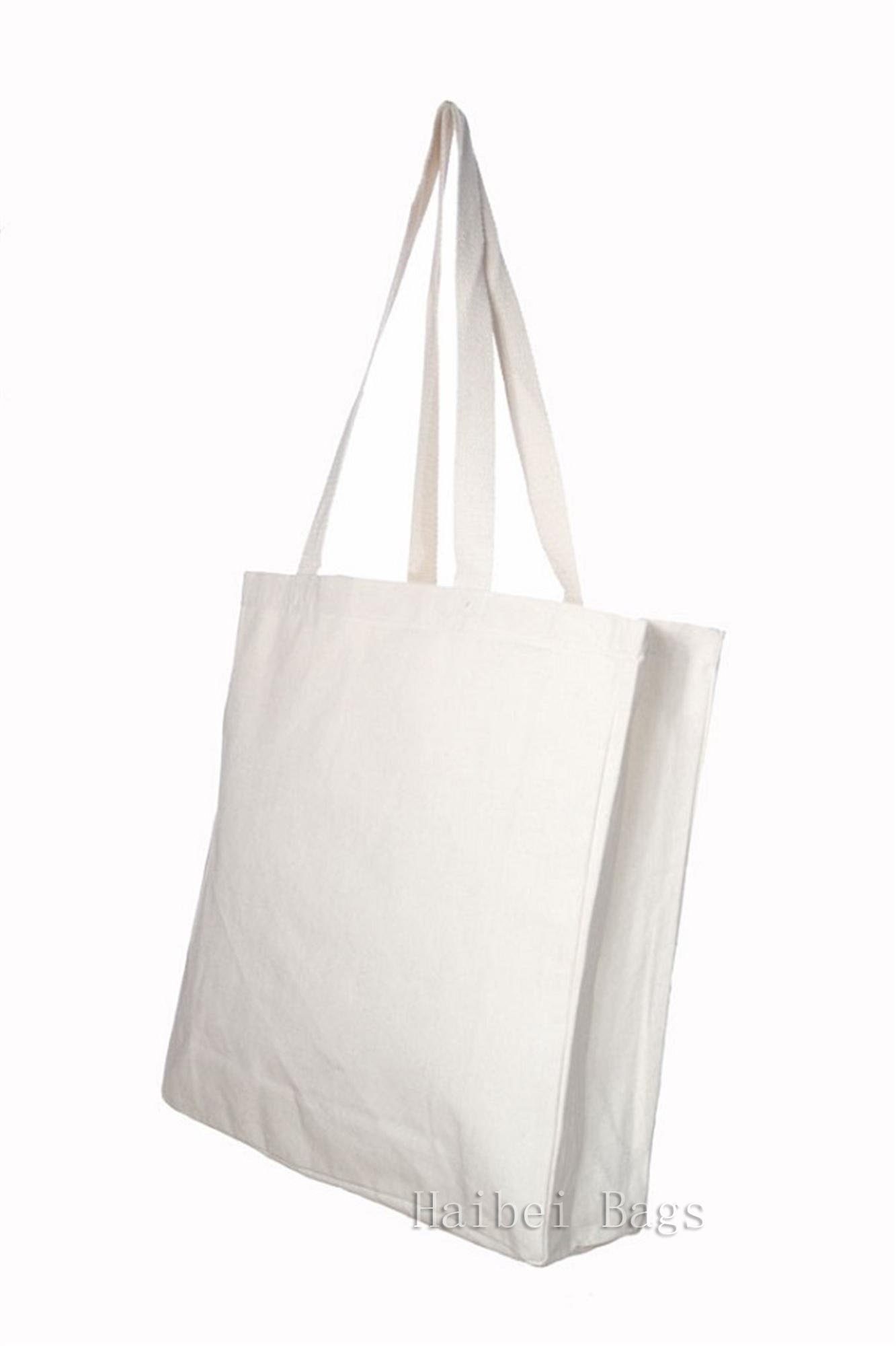 Custom Cotton Shopping / Tote Bag with 10cm Gussets (hbco-107)