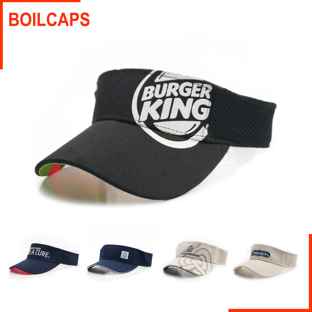 583a19e4 China Promotional Cotton Sports Cap Sun Visor with Custom Embroidery Logo  Man Hat - China Hats, Summer Cap