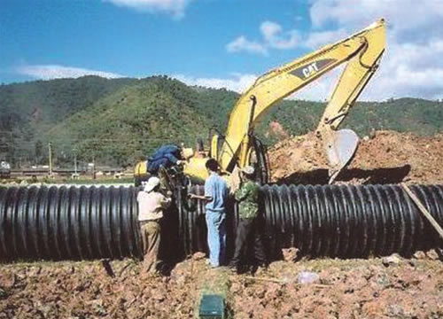 China Steel Strengthen Double Wall PE Pipe for Drainage Use - China