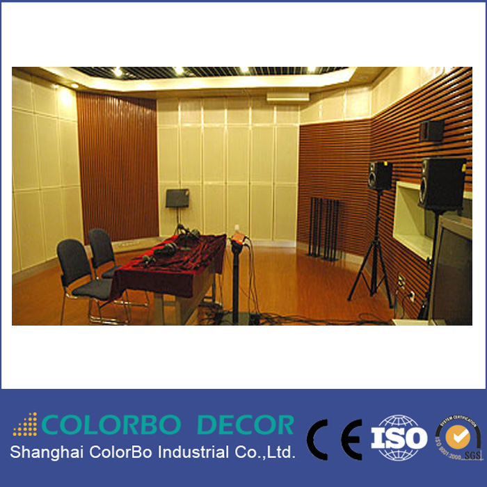 [Hot Item] Wooden Acoustic Panel Soundproof Function Wooden Paneling Strips  Studio Decoration