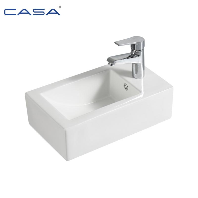 China Rectangular Bathroom Wc Wall Hung Ceramic Small Size Wash Basin China Wash Basin Basin