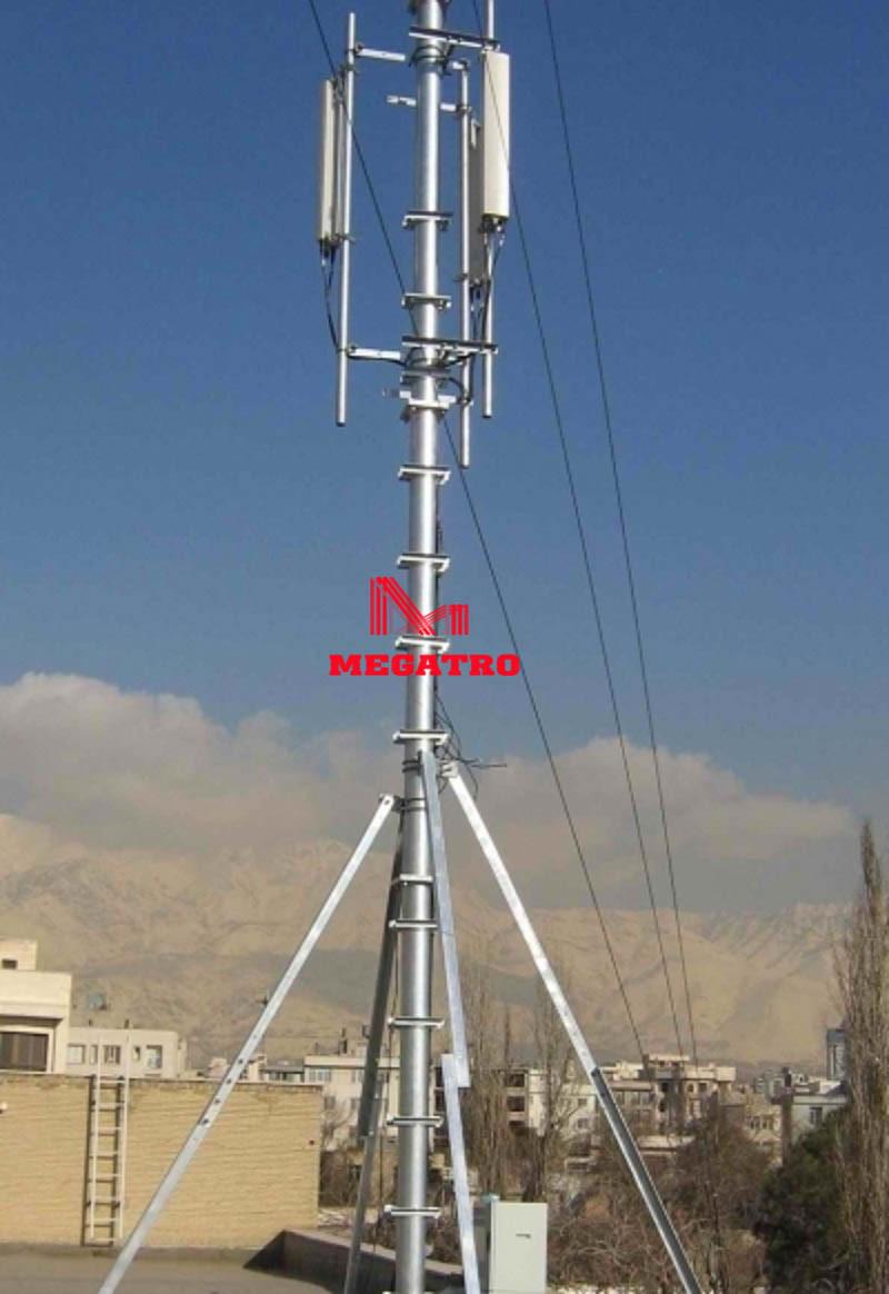 China Megatro Rooftop Tubular Telecom Steel Pole China