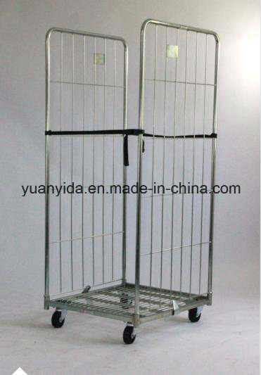 2-Sided Zinc Plating Foldable Logistical Roll Pallets/Roll Containers/Hand Trolley pictures & photos