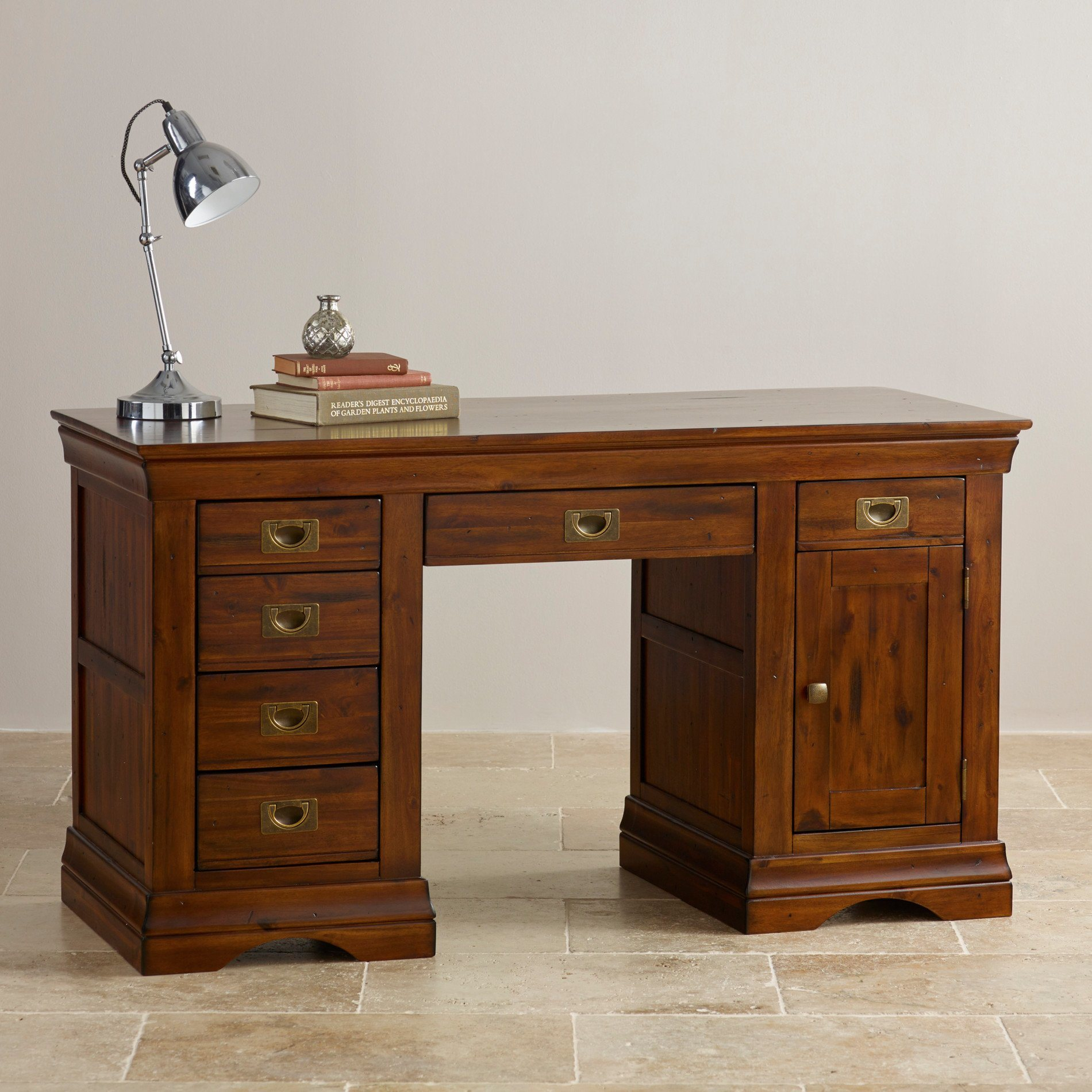 - China Rustic Vintage Oak Solid Wood Computer Desk - China Table