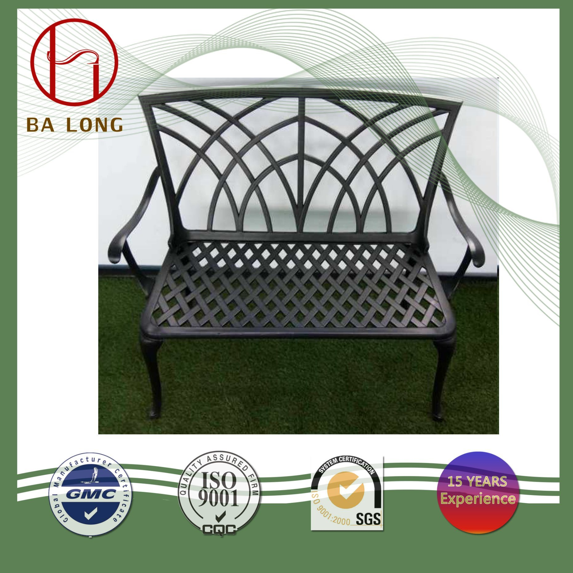 Astounding Hot Item Cast Aluminium Metal Outdoor Patio Dining Leisure Garden Furniture Chair Bench Ocoug Best Dining Table And Chair Ideas Images Ocougorg