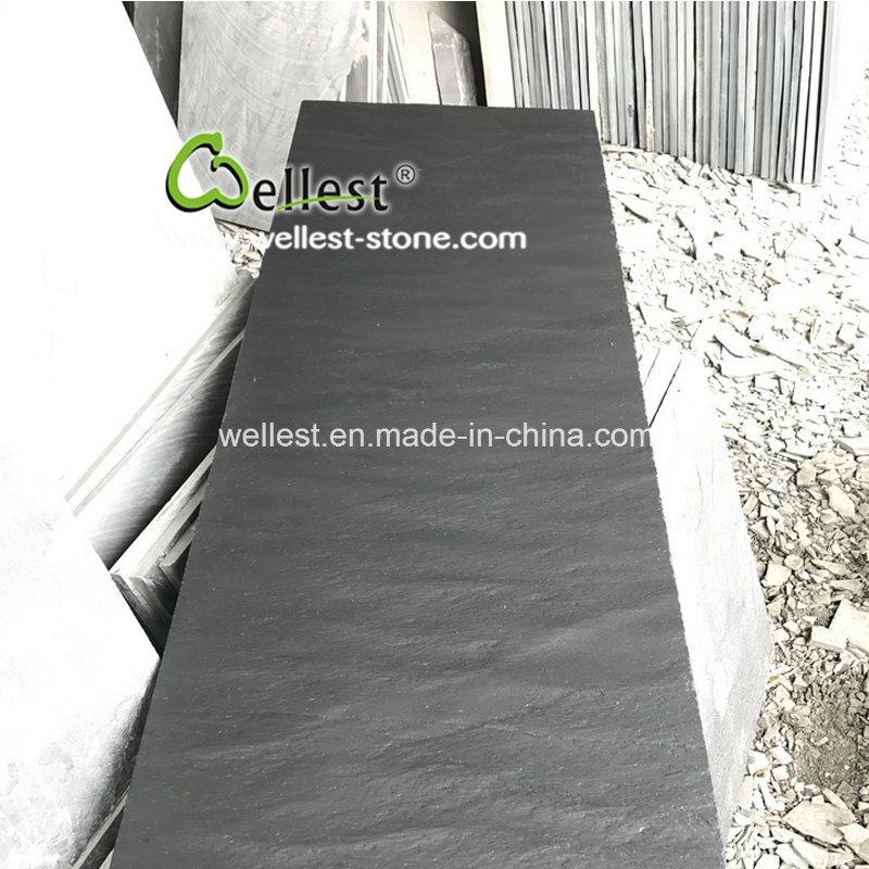 Natural Riven Black Slate Fireplace Panel Hearth Slabs Tiles