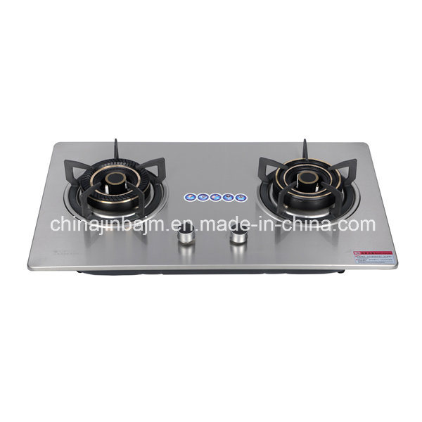 China 2 Burners Stainless Steel Cooktop Built In Hob Gas Build