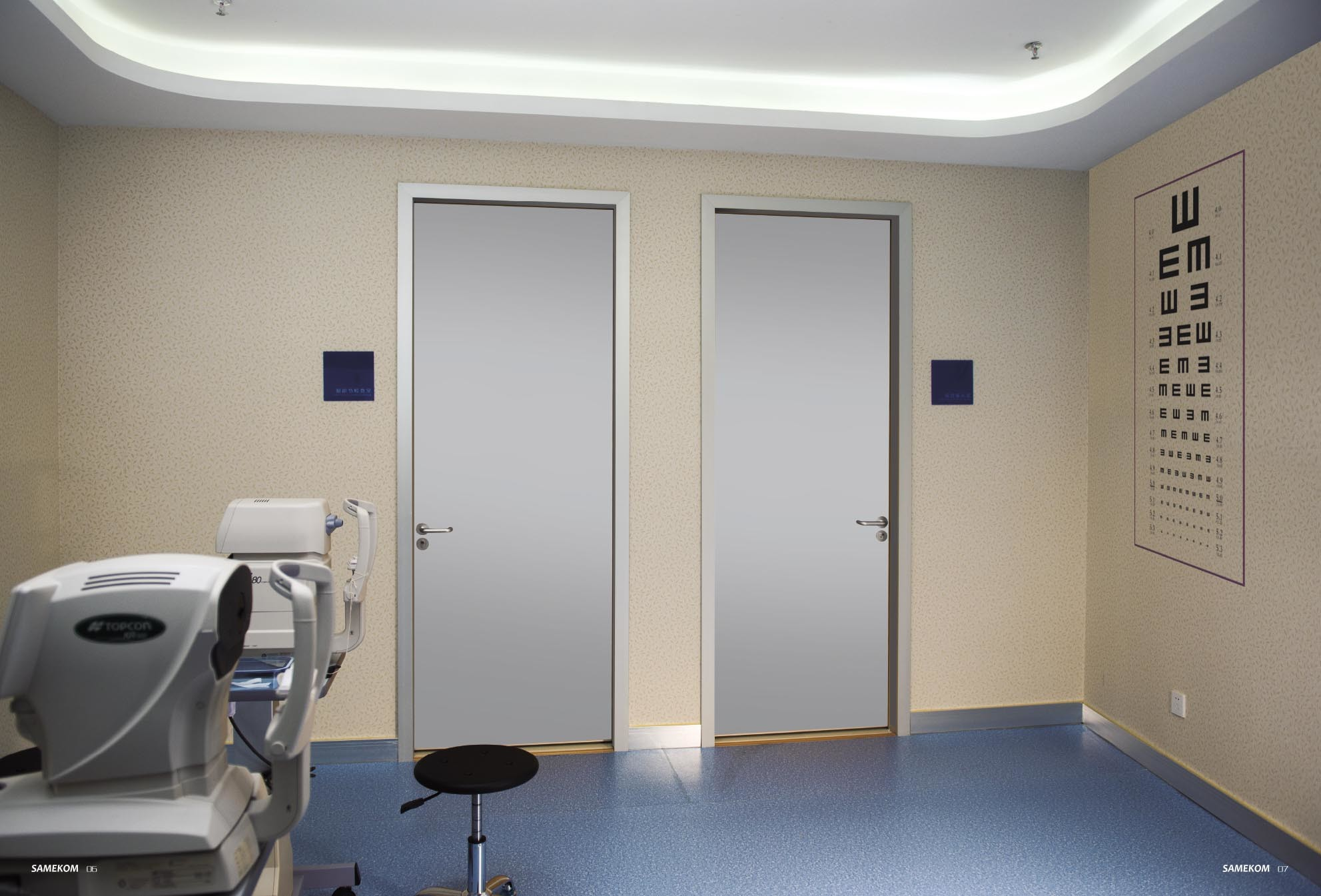 Waterproof Interior Hospital Wooden Door pictures & photos