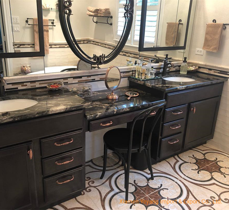 China Black Cosmic Granite Bathroom, Bathroom Granite Vanity Tops