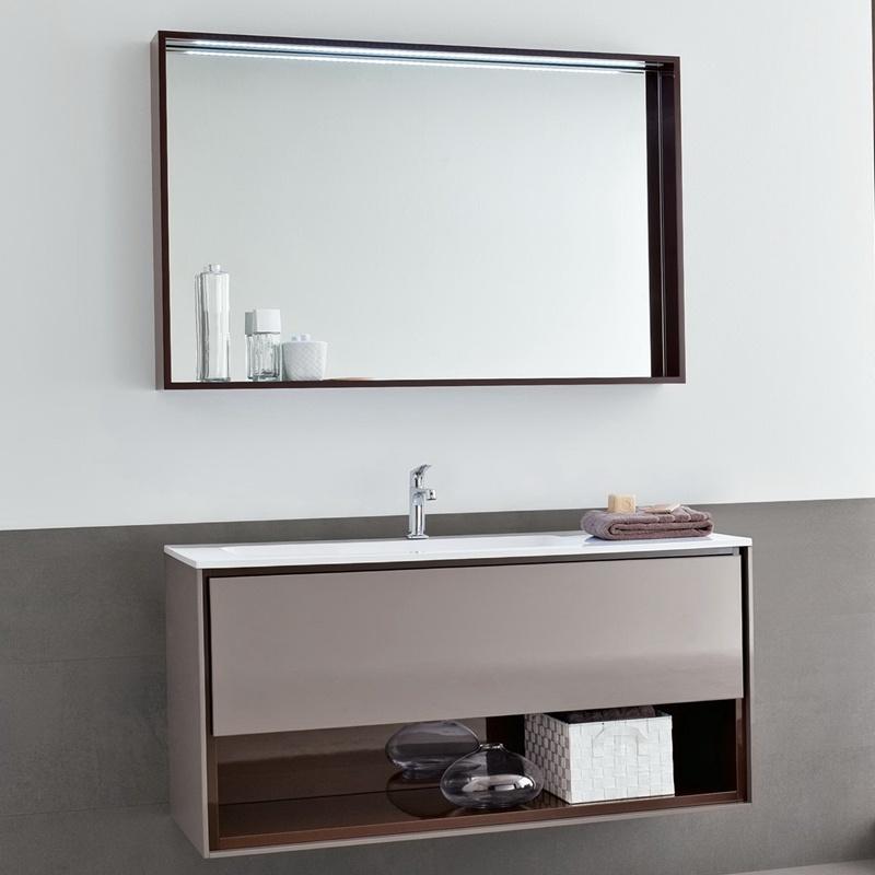 China Hotel Decorative Wall Mounted Round Rectangle Metal Frame Bathroom Vanity Mirror China Mirror Frame Mirror