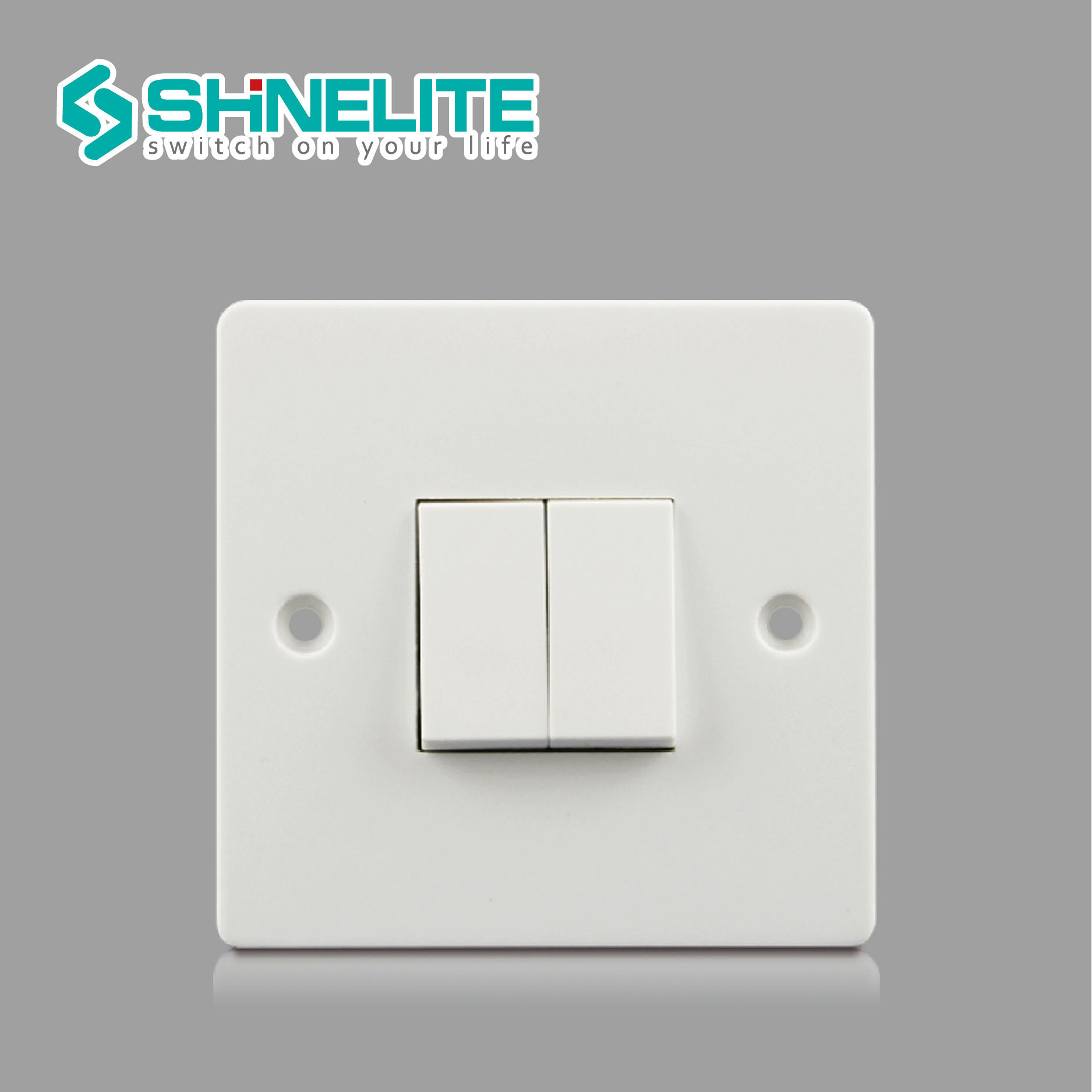 China British Standard 10A 2 Gang 1 Way Electrical Switch - China ...