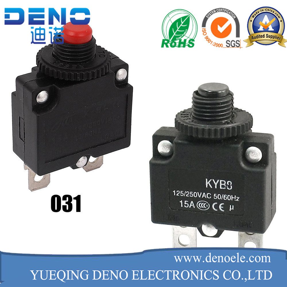 China Plastic 10A Circuit Breaker Thermal Overload Protection Switch ...