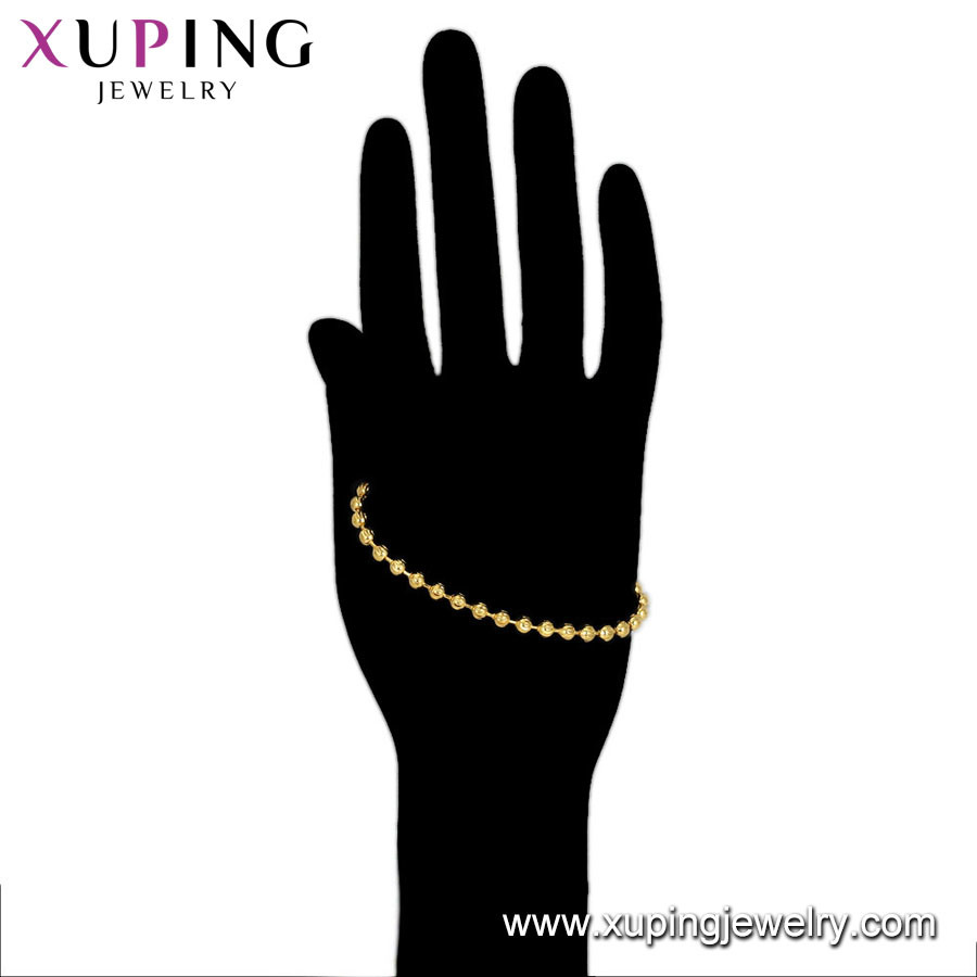 75033 Xuping Fashion Jewelry 24K Gold Bracelet pictures & photos