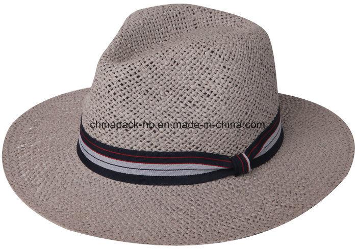 [Hot Item] Hardness Paper Straw Panama Hats for Men (CPHC8008X)