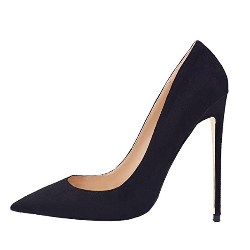 ac933dcec615 Fashion Party Wear Pumps Leather Stilettos Girls Ladies Women High Heel  Shoes