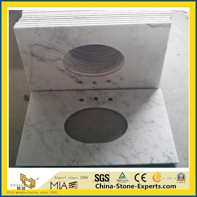 China Carrara Marble/Granite/Quartz Stone Table Top for Hotel Dining (White/Black/Grey/Yellow/Red/Pink/Brown/Beige/Green/G682/G654/G603/G664/Kitchen/Bathroom) pictures & photos