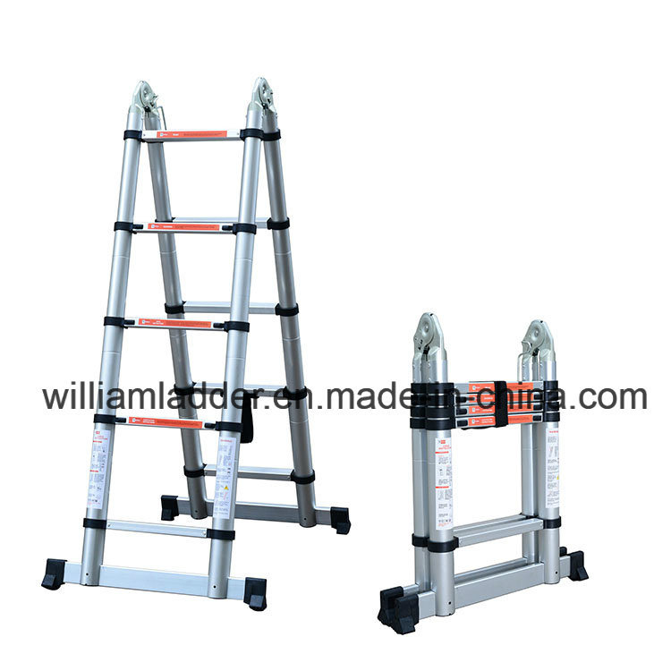 [Hot Item] Double Using Telescopic Ladder 1 6+1 6m Straight Height 3 2m  Aluminium Alloy Made
