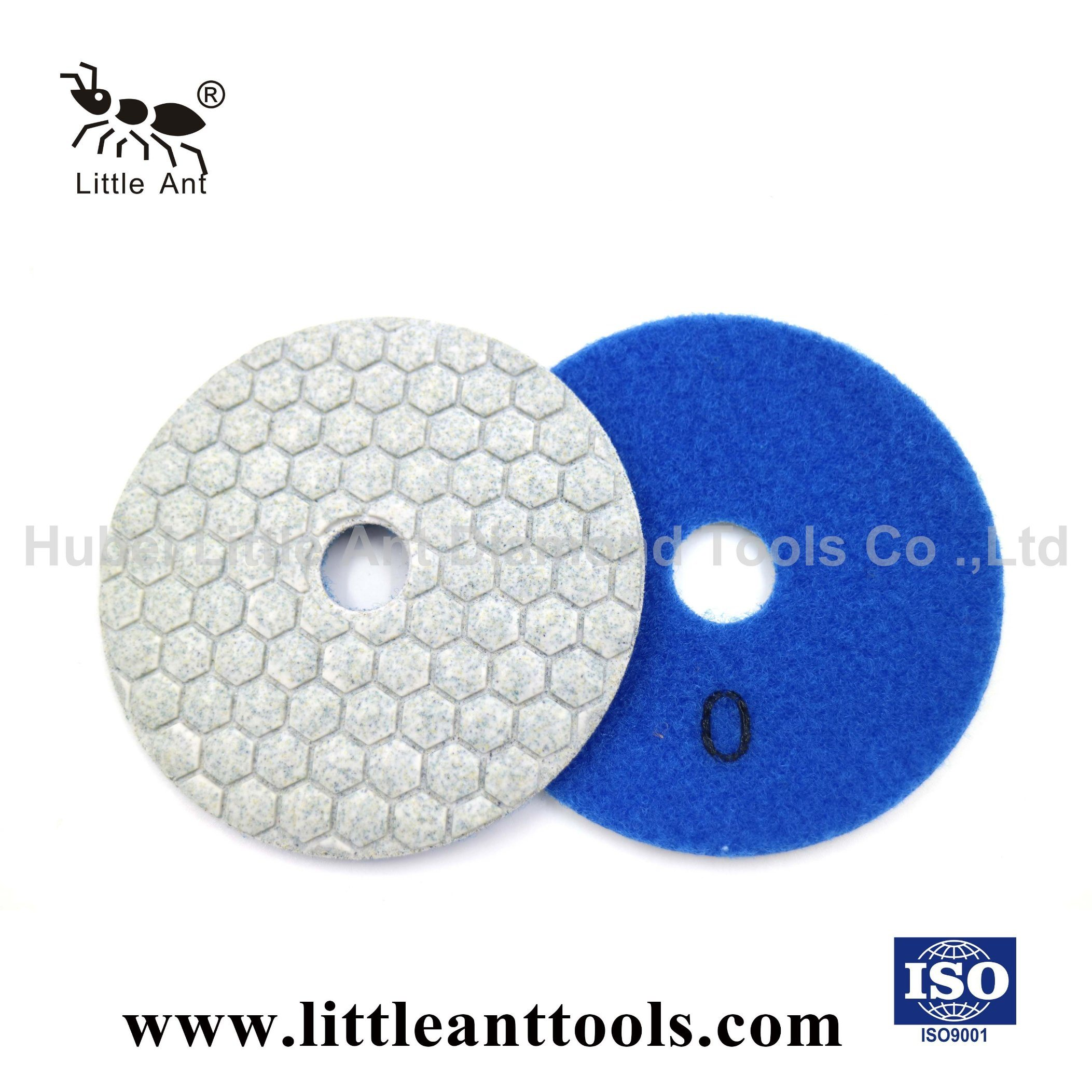 5Pc 4/'/' Diamond Grinding Polishing Pads Discs For Granite Marble Concrete Stone