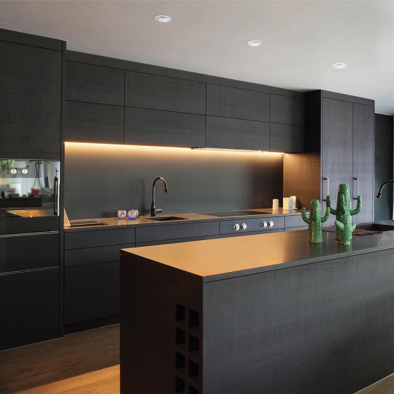 China Home Furniture Matt Black Flat Pack Kitchen Cabinets ...