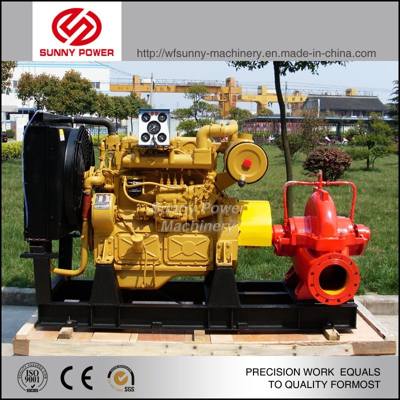 12inch Double Suction Pump Driven by Cummins Diesel Engine