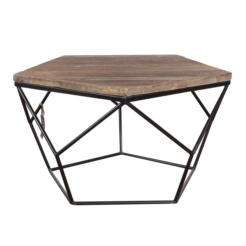 China Industrial Cheap Metal Frame Geometric Coffee Table China