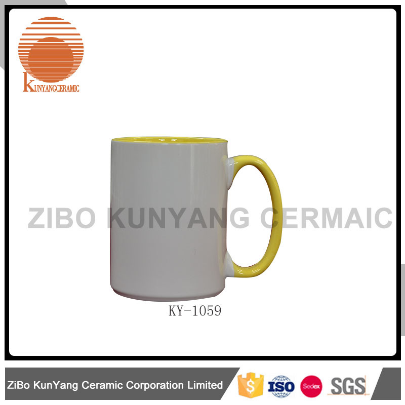 Color Inside Color Rim and Color Handle Mug