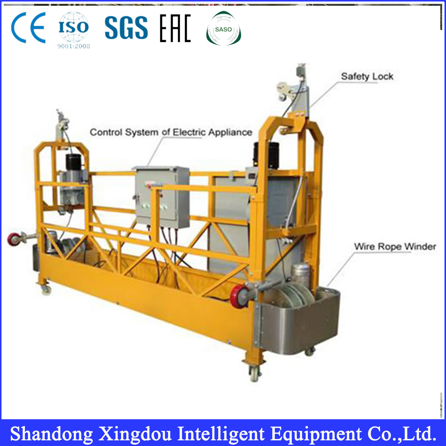 China Hot Sell Suspend Platform Scaffolding for Cleaning Zlp 630 ...