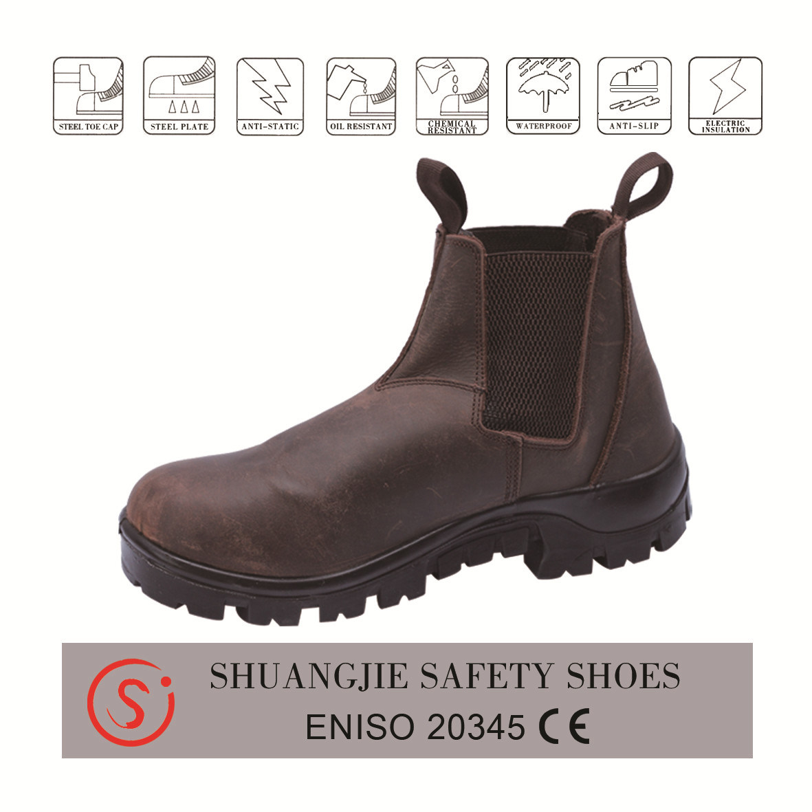 China Heavy Work High Heel Safety Shoes
