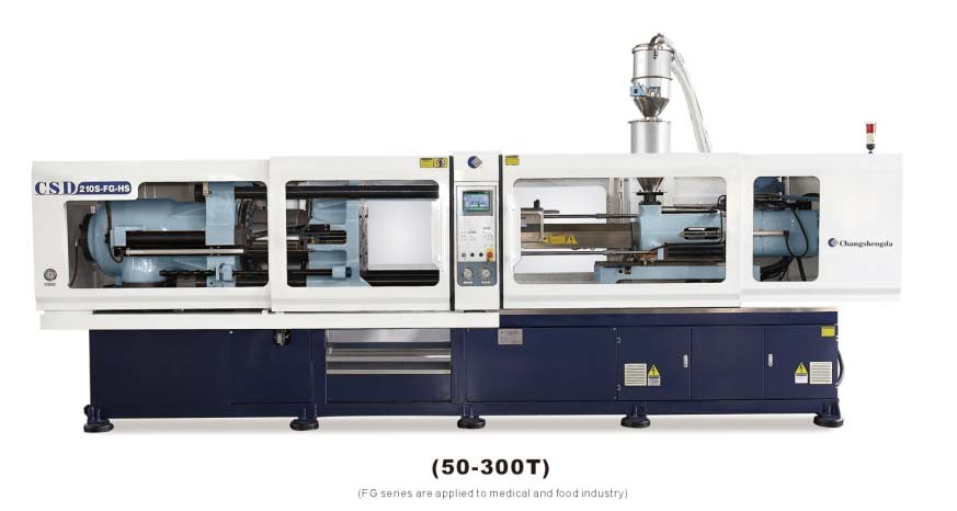 CE Approved with FG Series High Precision & Direct Pressure Injection Molding Machine (80-250T) (CSD-210S-FG)