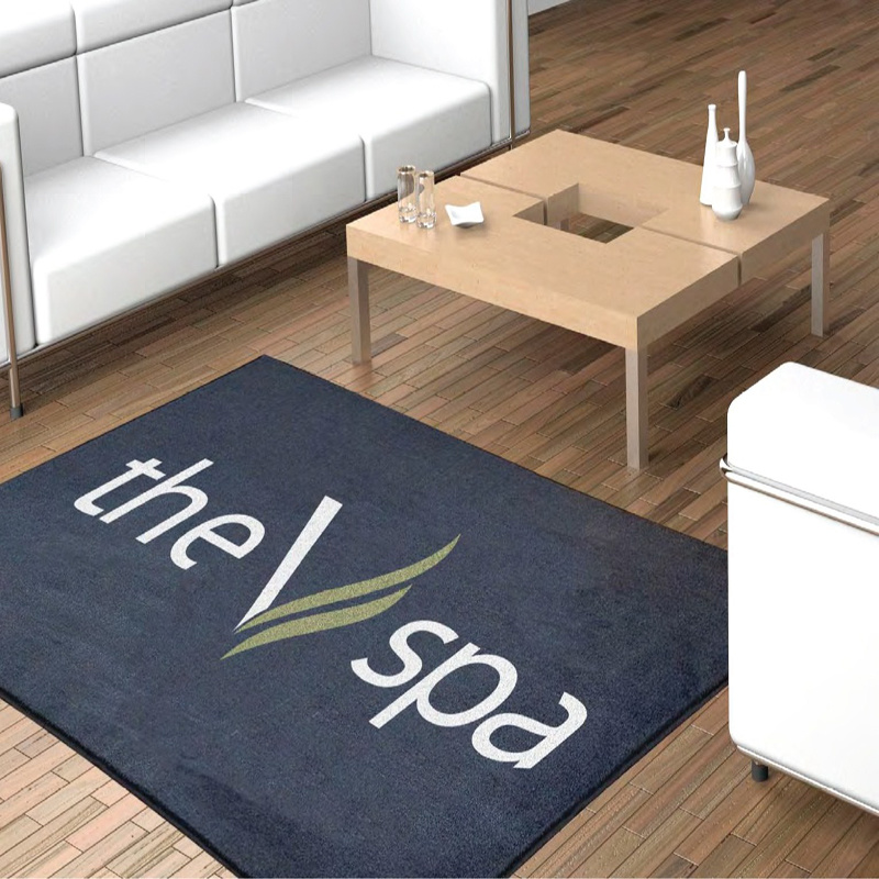 Custom Personalized Customized Sublimation Printing/Printed Logo Promotional/Promotion Advertising Welcome Entrance Doormats Rugs Carpets Floor Door Mats