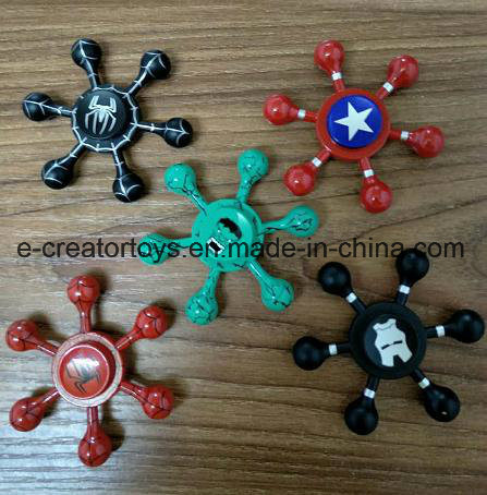 2017 New High Fashionable Aluminium Alloy Hand Spinner Superman/Captain America/ Fidget Spinner Finger pictures & photos