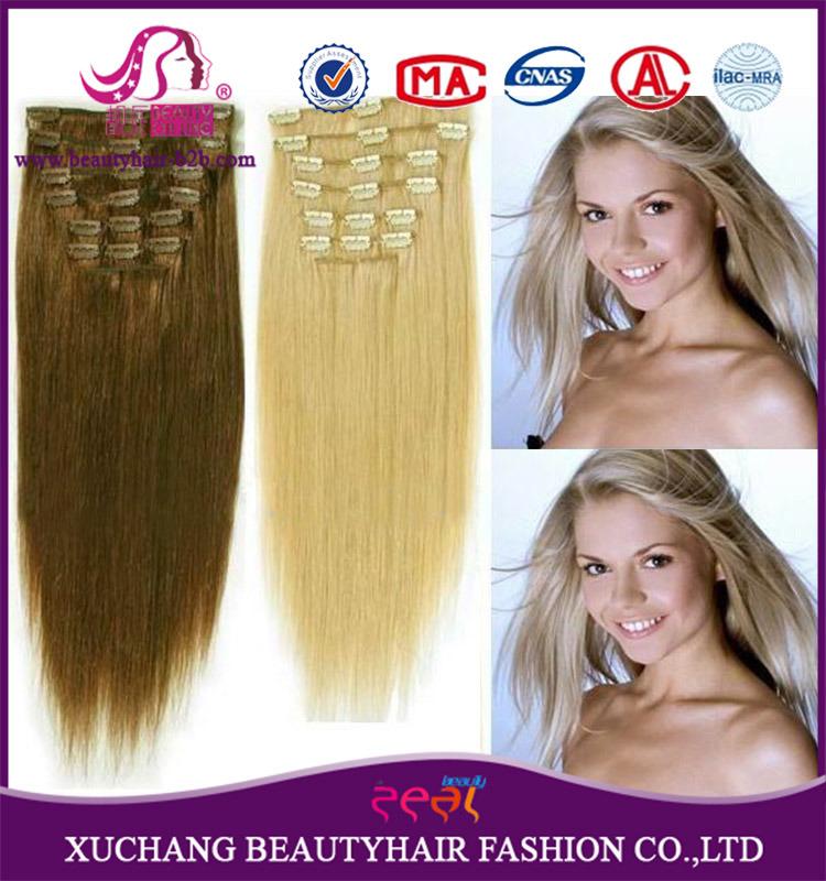 China High Quality 100 Brazilian Hair Remy Human Human Hair Clip On