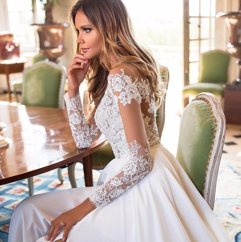 China 2018 Beach Wedding Dress Split Lace Chiffon Real Photos Boho ...
