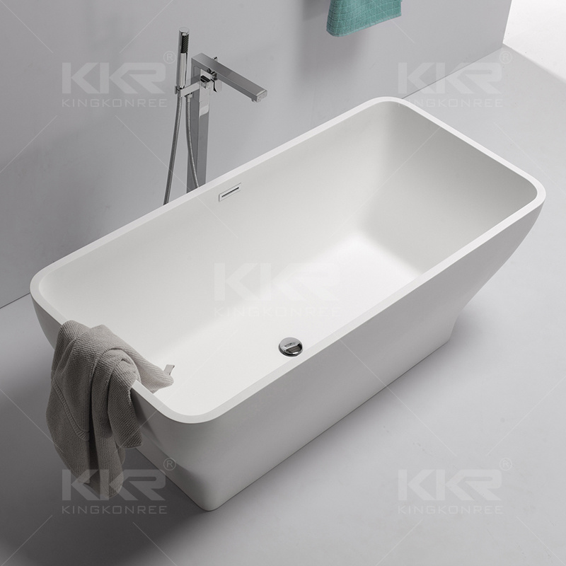 China Modern Design Freestanding Bath Resin Stone Portable Bath Tub ...