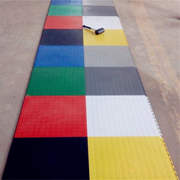 China Garage Flooring Car Floor Mat Plastic Rubber Coin Flooring