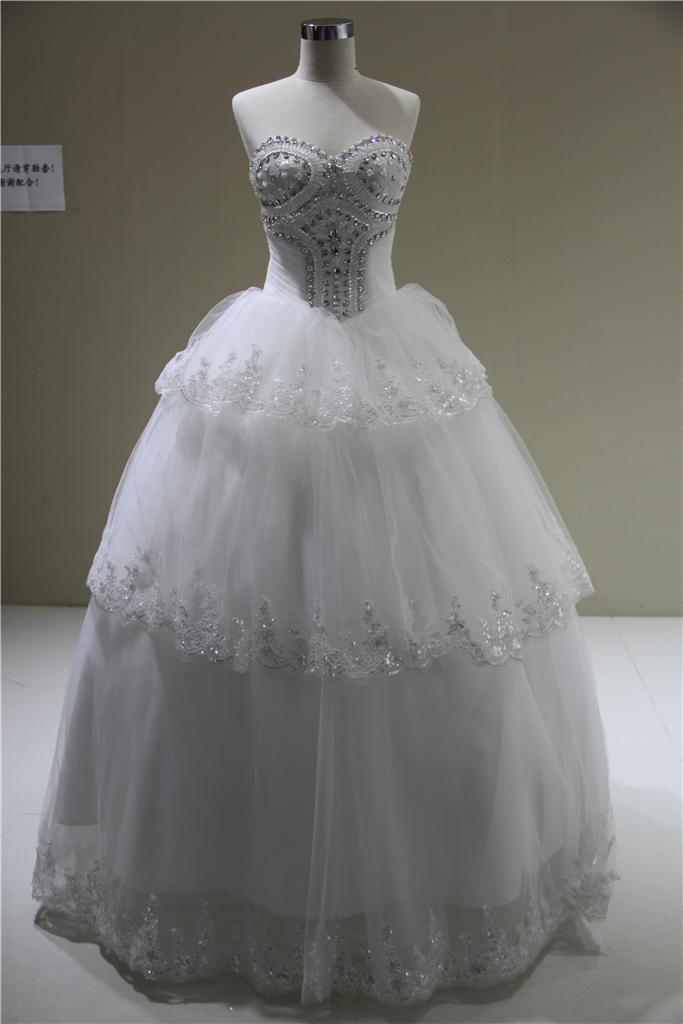 China Wholesale Cheap Crystal Bodice Ball Gown Bridal Wedding ...